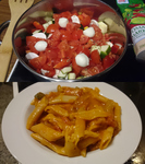 One-Pot-Pasta Tomate-Mozzarella